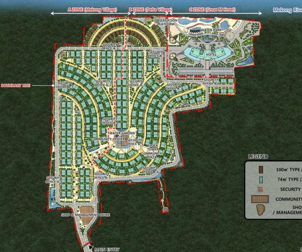 베트남 미토 메콩델타 빌라/호텔/워터파크 복합시설